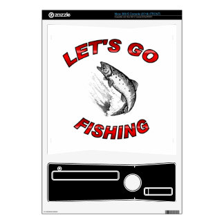 Lets go fishing Zazzle Skin Xbox 360 S Decals