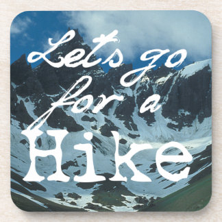 Let's Go For a Hike Beverage Coasters