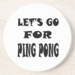 Let's Go For PING PONG Beverage Coaster