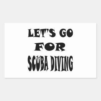 Let's Go For SCUBA DIVING. Sticker