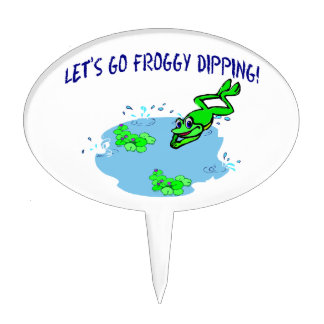 Let's Go Froggy Dipping Cake Topper