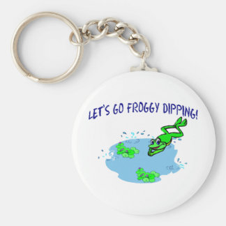 Let's Go Froggy Dipping Keychain