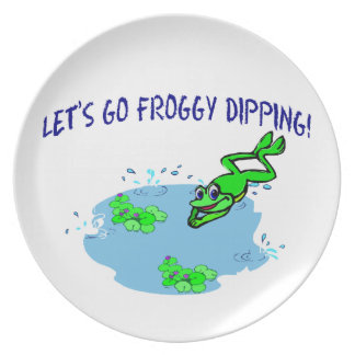 Let's Go Froggy Dipping Plate