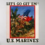 Let's Go Get 'Em - U.S. Marines Print