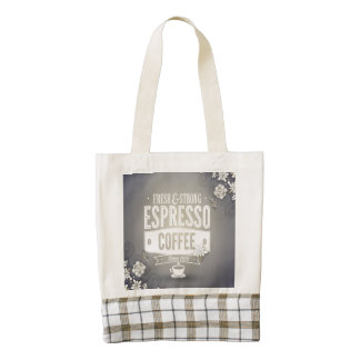 Let's go get some coffee zazzle HEART tote bag