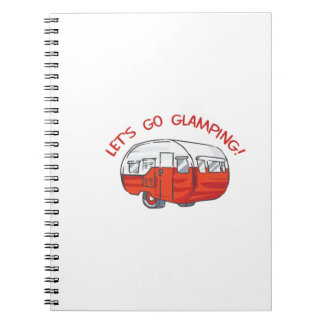 LETS GO GLAMPING NOTE BOOKS
