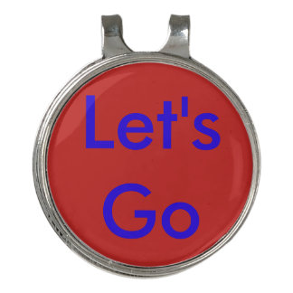 Let's go golf ball marker golf hat clip