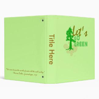 Let's Go green Binder