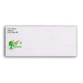 Let's go green envelope envelope