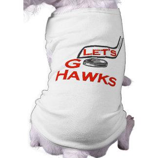 Let's Go Hawks Doggie Shirt