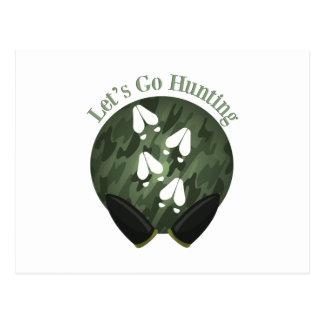 Lets Go Hunting Postcard