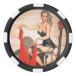 Let's Go Hunting - Vintage Pin-up Art Poker Chip Set