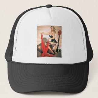 Let's Go Hunting - Vintage Pin-up Art Trucker Hat
