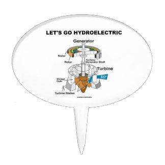 Let's Go Hydroelectric (Generator Turbine) Cake Topper