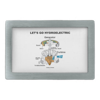 Let's Go Hydroelectric (Generator Turbine) Rectangular Belt Buckle