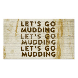 Let's Go Mudding Business Card
