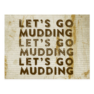 Let's Go Mudding Postcard