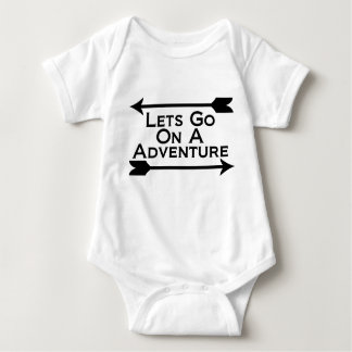Lets Go On A Adventure Nature Wilderness Baby Bodysuit