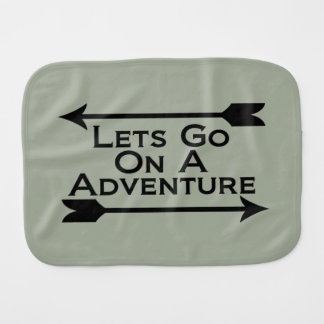Lets Go On A Adventure Nature Wilderness Baby Burp Cloth