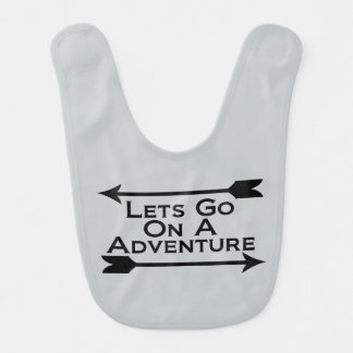 Lets Go On A Adventure Nature Wilderness Bib