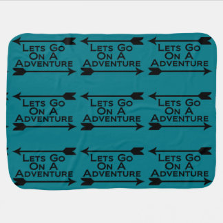 Lets Go On A Adventure Nature Wilderness Swaddle Blanket