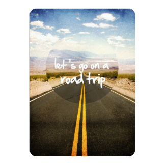 Let's go on a road trip 5x7 paper invitation card