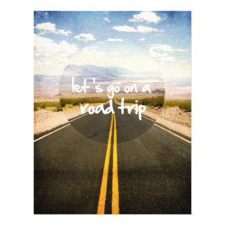 """Let's go on a road trip 8.5"""" x 11"""" flyer"""