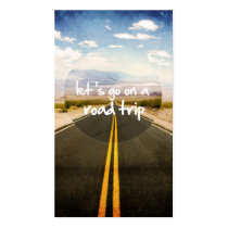roadtrip, let's go on a roadtrip, motivationnal, quote, dream, cool, cars, highway, trip, landscape, freedom, road trip, passion, direction, funny, art, photography, instant, discover, fun, business card, Business Card with custom graphic design