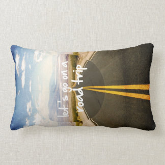 Let's go on a road trip lumbar pillow