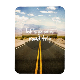 Let's go on a road trip magnet