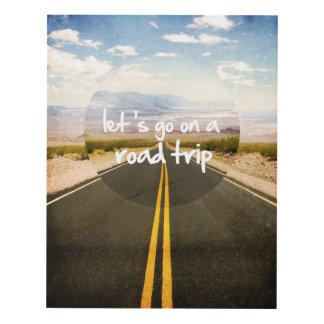 Let's go on a road trip panel wall art