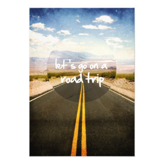 Let's go on a road trip photo print