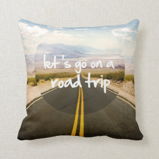 Let's go on a road trip throw pillow