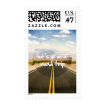 roadtrip, art, let's go on a roadtrip, motivationnal, quote, dream, cars, highway, trip, stamp, discovery, cool, landscape, freedom, road trip, passion, direction, funny, photography, instant, discover, fun, postage, Stamp with custom graphic design
