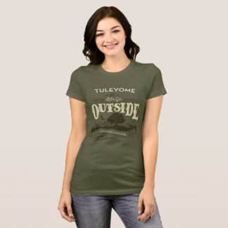 Let's Go Outside, Women's Bella Jersey T, Army T-Shirt
