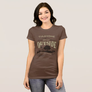 Let's Go Outside, Women's Bella Jersey T, Chocolat T-Shirt