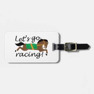Lets Go Racing Tag For Luggage