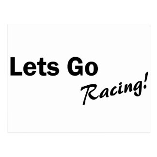 Lets Go Racing Postcard