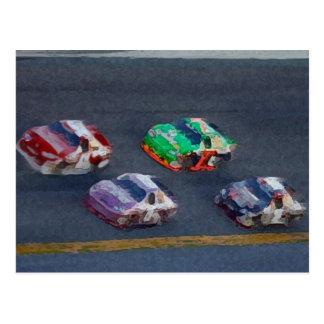Lets Go Racing Postcards