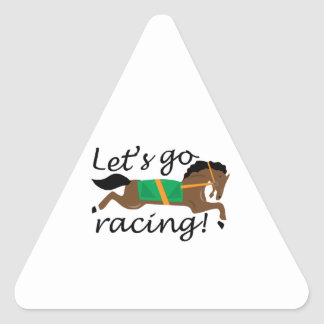 Lets Go Racing Triangle Stickers