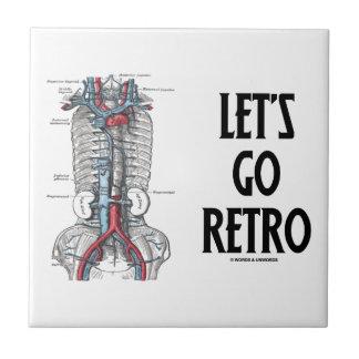 Let's Go Retro (Retroperitoneal Vasculature) Small Square Tile
