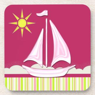 Let's Go Sailing Beverage Coaster