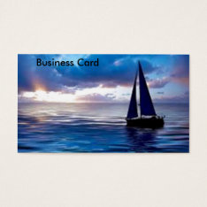 Let's Go Sailing Business Card at Zazzle