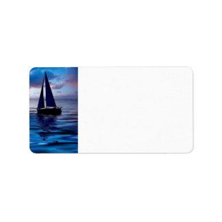 Let's Go Sailing Address Label