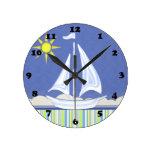 Let's Go Sailing Wall Clock