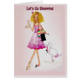 Let's Go Shopping Greeting Card