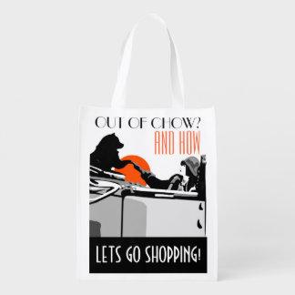 LETS GO SHOPPING heARTdeco chow- Market Tote