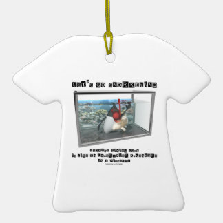 Let's Go Snorkeling Because Fixing Code Is Java Double-Sided T-Shirt Ceramic Christmas Ornament