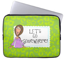 Let's go somewhere Laptop sleeve