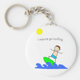 Let's Go Surfing Keychain
